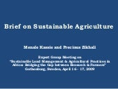 Brief On Sustainable Agriculture Pr...