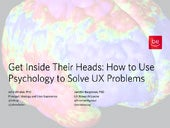 Get Inside Their Heads: How to Use Psychology to Solve UX Problems
