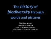 The history of biodiversity through words and pictures