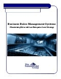 Business Rules Managment Systems; Maximizing Value