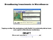 p2p microfinance concept that I was...