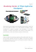 Broadening Horizon of iPhone Application Development