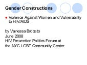Gender Construction: Violence Again...