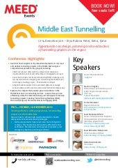 Middle East Tunnelling 2011, Qatar