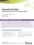 Specialty Biocides: Emerging Markets Analysis and Opportunities