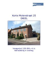 Brochure Driel, Korte Molenstraat 2...