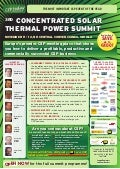 3rd Concentrated Solar Thermal Power Summit