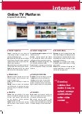 Brochure Online TV Platform
