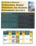 The College at Brockport - Scholarships for 2012-13 - Intelligent Partners