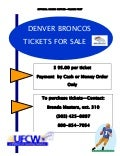 Broncos tickets flyer 2011
