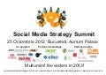 Prezentare prima editie Social Media Strategy Summit
