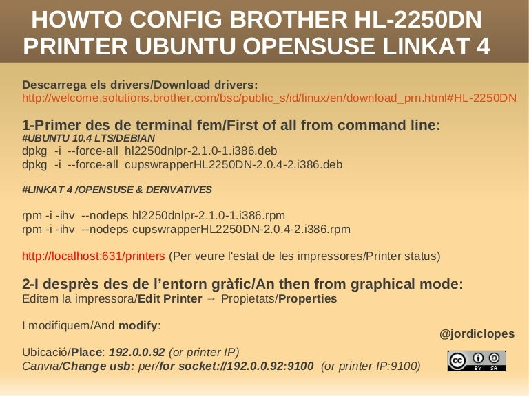 driver brother hl 2250dn linux