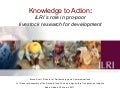 Knowledge to Action: ILRI's role in pro-poor livestock research for development