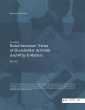 Retail investors' views of shareholder activism summary of results