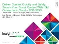 IBM Connections Cloud & IBM Docs: Working securely and quickly with content