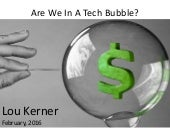Are We In A Tech Bubble?