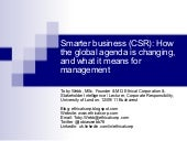 CSR, Smarter Business, and What it ...