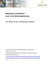 Marketing ist Chefsache – auch in d...