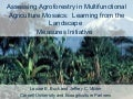 Assessing Agroforestry in Multifunctional Agriculture Mosaics:  Learning from the Landscape  Measures Initiative