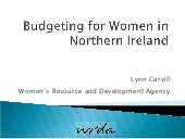 Budgeting for women NI (NICVA CEE)