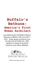 Buffalo's Bethune: America's First Woman Architect