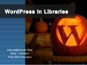 WordPress in Libraries
