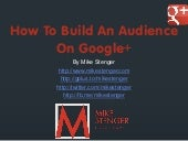 How To Build An Audience On Google+