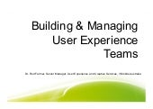 Building And Managing Successful Ux Teams