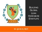 Building lean-hardware-startups