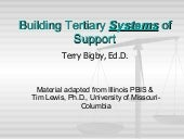 Building Tertiary Systems Of Support