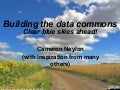 Building the data commons