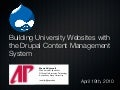 Building University Websites with the Drupal Content Management System