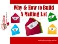 Importance Of Building A Mailing List Of Email Subscribers - Why & How