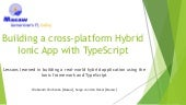 Building an Ionic hybrid mobile app with TypeScript