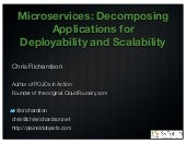Developing applications with a microservice architecture (SVforum, microservices meetup)