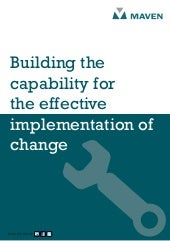 Building capability for effective i...