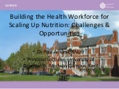 Building capacity in nutrition for the health workforce