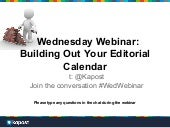Building Out Your Editorial Calendar 4.24.13