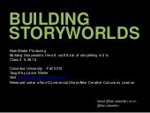 Building Storyworlds - lecture from...