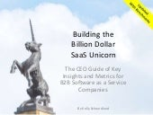 Building the Billion Dollar SaaS Unicorn: CEO Guide