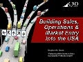 Building Sales, Operations and Market Entry into the USA  03182015