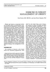 exercise in weight management