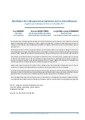 Bulletin bd f synthese colloque int...