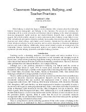 Bullying and teacher practices