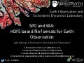 SPD and KEA: HDF5 based file formats for Earth Observation