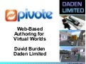 PIVOTE - Virtual Authoring System, ITEC