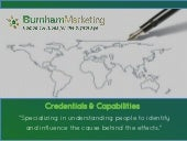 Burnham Capabilities