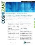 Business Process Management for Successful Core Banking Implementations