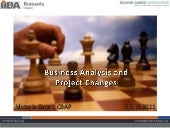 Business analysis and project changes