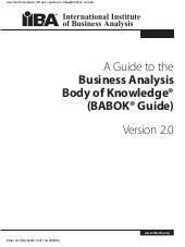Business analysis tools by iiba